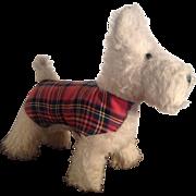 Vintage Plush Scotty Dog, West Highland Terrier by Wendy Boston. C.1948