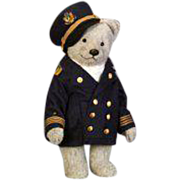 22 inch Bear Captain from the R. John Wright Bears at Sea Collection