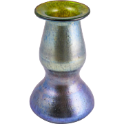 SOLD Fine Johann LOETZ Art Glass Vase, IRIDESCENT Blue-Green to Purple, Austria, c.1890 -1930