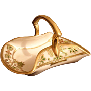 Nippon Hand Painted and Gilded Miniature Basket