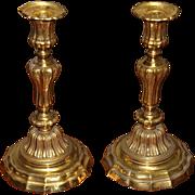 Louis XIV Gilt Bronze Candleholders
