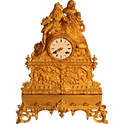 19th Century French Gilt Bronze Clock (Epoque Restauration)