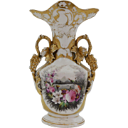 "Lovely ""Old Paris"" Painted & Gilded Vase"
