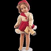 """Nancy Lee Skater Doll 1940~  R&B 18"""" Composition"""