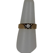 REDUCED Vintage Opal Ring, 10kt Yellow Gold