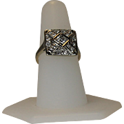 REDUCED Art Deco Transitional Cut Diamond Ring, 14 kt White Gold