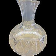 SALE 19thC Victorian HAWKES Brilliant Palermo Cut Glass Beverage Wine Carafe Decanter