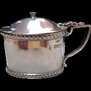SOLD Art Nouveau English Sterling (925) Silver Mustard Pot Cobalt Liner (London Circa 1923)