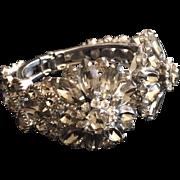 Pavéd Grey Rhinestone Clamper Bracelet