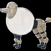 Trifari Jelly Poodle Dress Clip