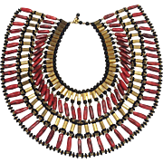 William de Lillo Work of Art Egyptian Collar Necklace