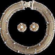Hattie Carnegie Necklace and Earring Set