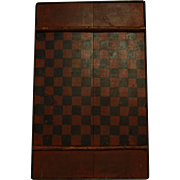 SOLD 19th Century Games Board, Painted Surface With Crazing