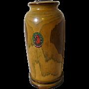 Arts & Crafts Wooden Vase from Native Ozark Woods ca. 1930