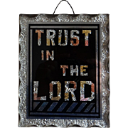 Art Deco Foil and Glass Religious Motto Picture