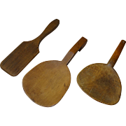 Tools - Three (3) Antique American Butter Paddles