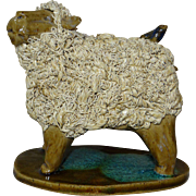 Woolly Lamb Sculptural Figure by Crystal King