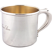 """1950's Wallace Sterling silver child's cup, engraved """"Madelina Ann"""""""