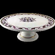 """Richard Ginori """"Rapallo"""" pattern, footed cake plate"""