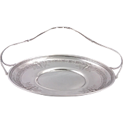 Early 20th century American Sterling silver handled bread / treat tray