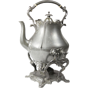 Pewter Teapot With Stand