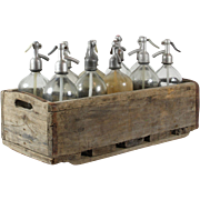 Seltzer Bottle Set of 10 with Crate