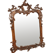 Antique Louis XV Carved Wood Mirror