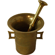 Solid Bronze Mortar and Pestle
