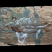 "Original drawing ""Nude"" by Ksenia Sapunkova, signed"