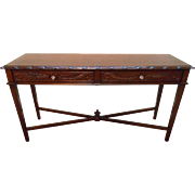 Hickory Chair Mariette Himes Gomez Mahogany Acanthus Carved Console Sofa Table