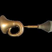 SALE Antique Oxidized Brass Car Horn