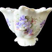 Handpainted Victorian Porcelain Flower Frog / Vase 1900