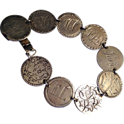REDUCED Antique silver love token bracelet