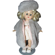 """SALE Ginny with gray faux fur coat and hat 8"""""""