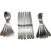 "Lovely Dessert Set ""MALMAISON"" By Christofle French Silverplate 18pc"