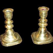 SALE Victorian Miniature Brass Candlesticks
