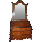 SALE Superb French Doll Bureau circa 1860 - Inlay and Marquetry ex collection Countess Maree .