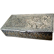 Miniature Silver Plate Box for Tiny Treasures
