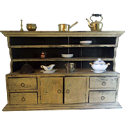 Early Mustard Paint Spice Cabinet circa 1830