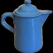 Antique dollhouse miniature graniteware enamel coffee pot
