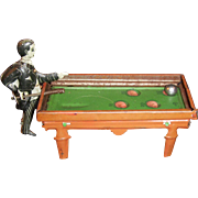 Antique German Penny Toy - Pool Player