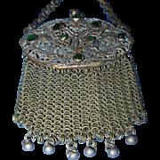 Chatelaine stone set mesh purse.
