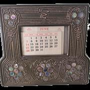 Tiffany Studios Abalone Calendar Frame 1166
