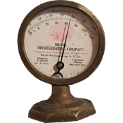 SALE Vintage Stand Alone Advertising Thermometer. Bronx Refrigerating Company.