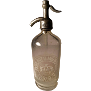 SALE Antique Avon Bottling Works, Avon, N.Y. Seltzer Bottle. Has Company Address Etched on ...
