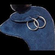 """Sterling Silver 1 3/4"""" Diameter Hoop Earrings"""