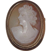 Lovely Catamore Gold Filled Carved Shell Cameo Brooch
