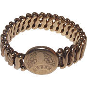 Pretty D. F. B. Co. Carmen Gold Filled Expansion Bracelet With Etching - No Monogram