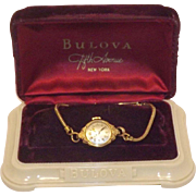Lovely Bulova Rolled Gold Plate Ladies Watch With Original Box
