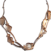 Sterling Silver Geometric Shapes Double Strand Necklace